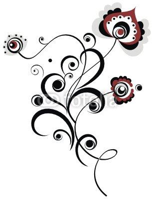 easy floral motive