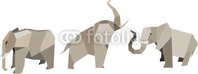 Elefanten - Origami