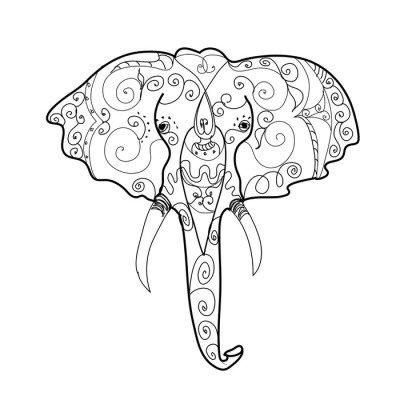 Elephant's head tattoo