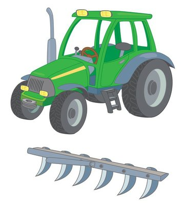 tractor-plow-silhouette • Wall Decals • Pixers® • We live ...