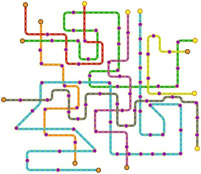 Fictional public transport subway map vector illustration wall fictional public transport subway map vector illustration wall decal sciox Choice Image