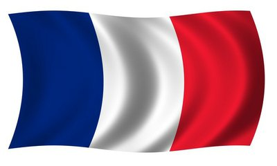 Flag of France in waves