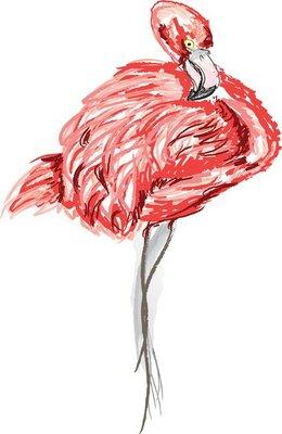 Flamingo Wall Decal