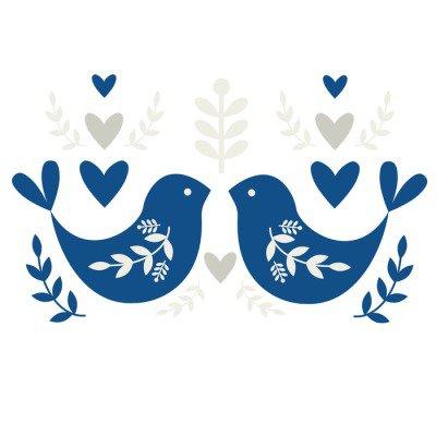 Folk Motif with Birds