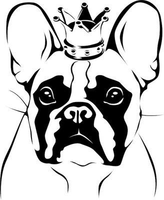 Wall Decal French Bulldog King