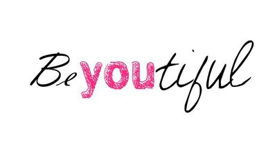 """Funny inspirational typographic """"Be You Tiful"""" vector"""