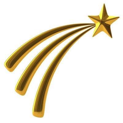 Golden shooting star