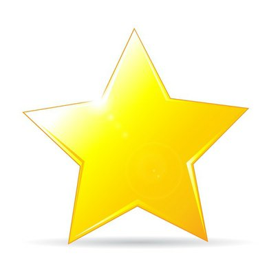 golden star icon on white background