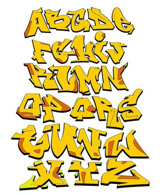 Graffiti Font Urban Art Alphabet