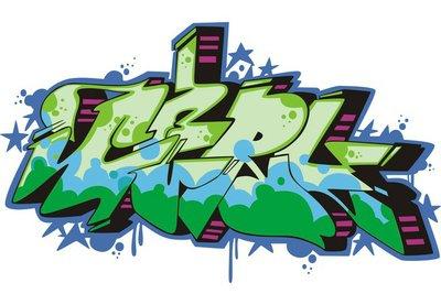 Graffito - girl