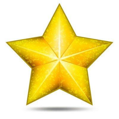 Grunge star icon