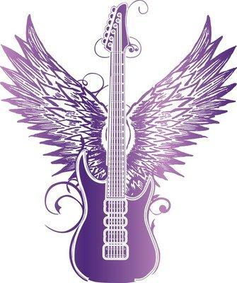 Guitar wing tribal