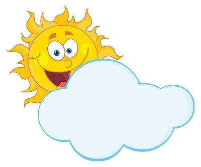 Happy Sun Hiding Behind Cloud