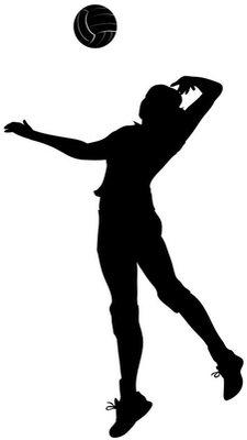 Icona di ragazza che gioca a palla a volo