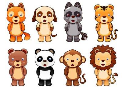 illustration of cute animal set vector
