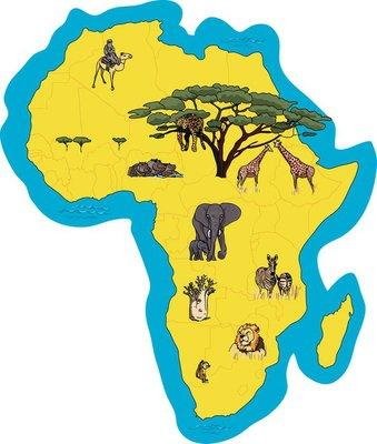Illustrierte Afrikakarte