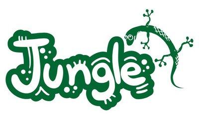 Jungle lizard graffiti
