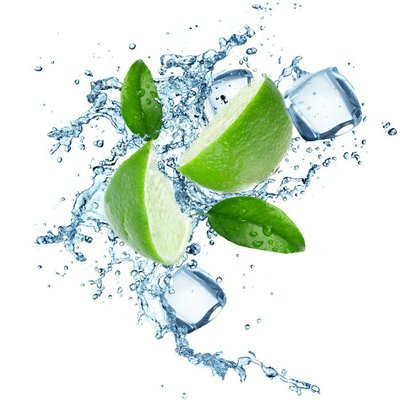 Limes and Splashing water