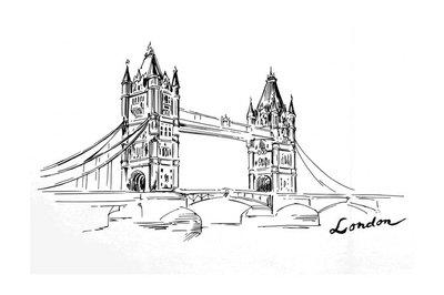 London - hand drawn bridge