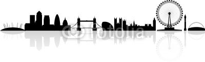 London skyline silhouette isolated on a white background