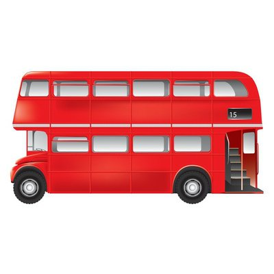 London symbol - red bus - isolated -detailed illustration