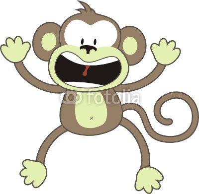 monkey panic scream