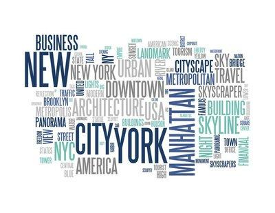 New York - Abstract postcard