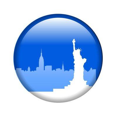 new york city pin button vector