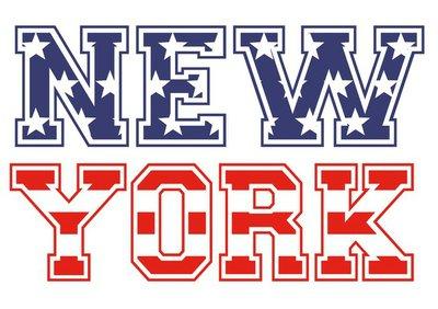 New York drapeau américain