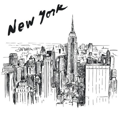 New York - hand drawn illustration