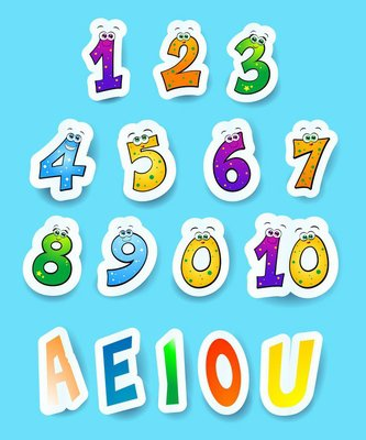 Numbers and vowels
