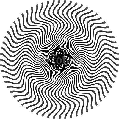 optische Illusion rund