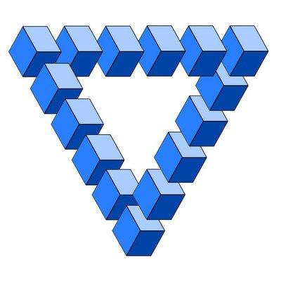 optische Täuschung, falsches Dreieck