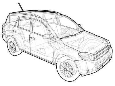 Perspective illustration of a Toyota RAV4