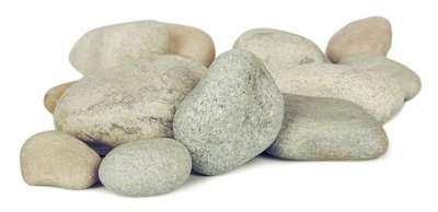 Pile of stones are isolated on white