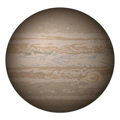 Planet Jupiter, isolated on white