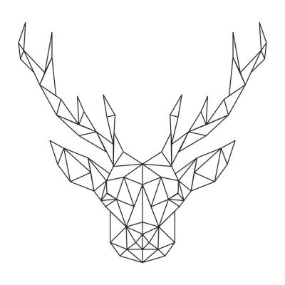 Polygonal Deer head. Creative art icon stylized