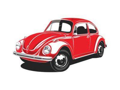 Red VW Beetles