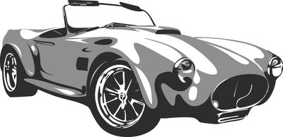 retro car in vector format 2