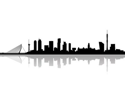 rotterdam city skyline vector