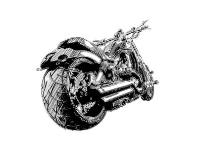 sketching of the motorbike