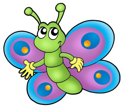 Small cartoon butterfly