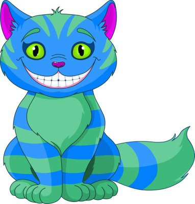 Smiling Cheshire Cat