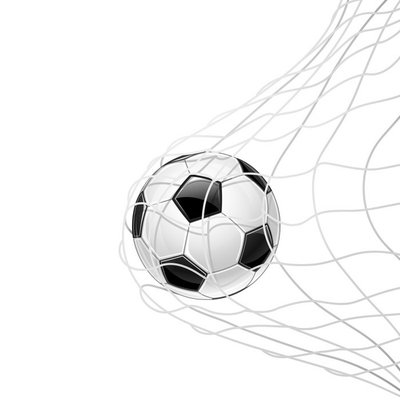 Soccer ball in grid isolated. Vector