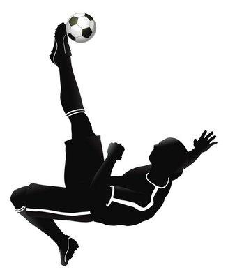 Soccer football player illustration