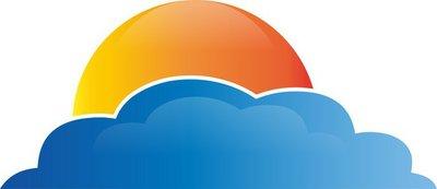 Sonne, Wolken, 3D, Vektor