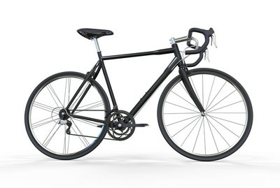 Sport Bike Black Side View