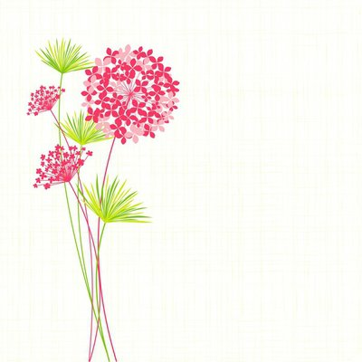 Wall Decal Springtime Hydrangea Flower Background