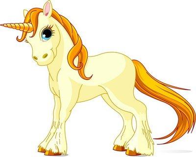 Standing beautiful cute unicorn