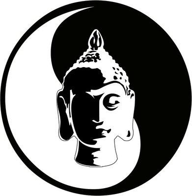 the vector buddha head
